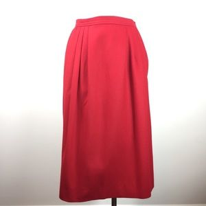 Vintage Pendleton Red High Waisted Wool Skirt